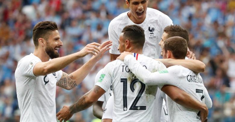 المنتخب الفرنسي ضد المنتخب الأورغواياني بمونديال روسيا 2018