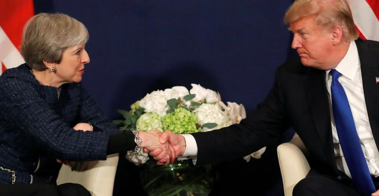 الرئيس الأميركي دونالد ترامب ورئيس الوزراء البريطانية تيريزا ماي