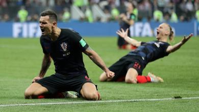 المنتخب الكرواتي ضد المنتخب الأنجليزي بمونديال روسيا 2018
