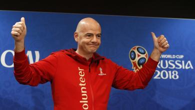 """رئيس الاتحاد الدولي لكرة القدم """"الفيفا"""" جياني إنفانتينو"""