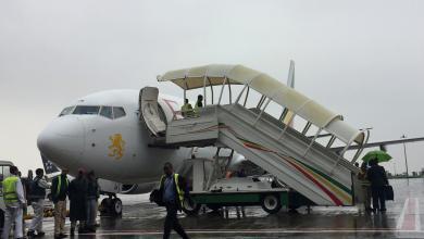 رحلة جوية من إثيوبيا إلى إريتريا في مطار بولي الدولي في أديس أبابا