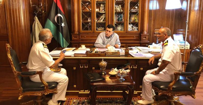 اجتماع فائز السراج وعميد مهندس عبد الله تومية والعميد أيوب قاسم