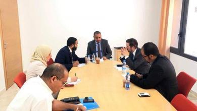 المؤسسة الليبية للاستثمار مع البعثة البريطانية