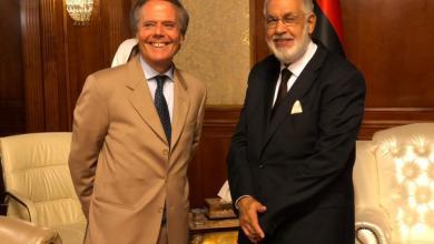 محمد سيالة مع وزير الخارجية الإيطالي