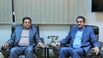 عميد بلدية بنغازي عبدالرحمن العبار ووكيل عام وزارة الصحة بالحكومة المؤقتة، والمكلف بتسيير الوزارة سعد عقوب
