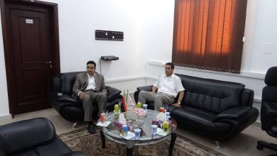 رئيس المفوضية العليا للانتخابات عماد السايح والنائب الأول لرئيس مجلس النواب فوزي النويري