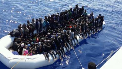 صورة البحرية الليبية تواصل إنقاذ الأرواح بعرض البحر