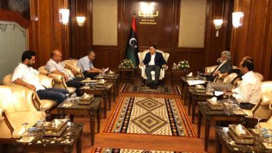 اجتماع فائز السراج مع رئيس وأعضاء المجلس البلدي حي الأندلس