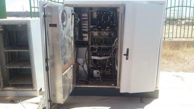 سرقة وتخريب محطة منطقة تيكا غرب مدينة بنغازي التابعة لشركة المدار الجديد