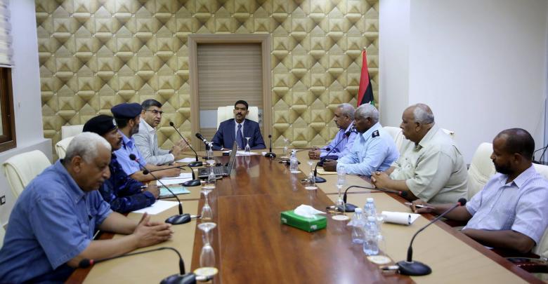 اجتماع أحمد حمزة والعميد عبدالسلام عاشور ومدراء مديريات أمن الجنوب