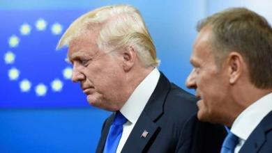 رئيس المجلس الأوروبي دونالد توسك والرئيس الأميركي دونالد ترامب