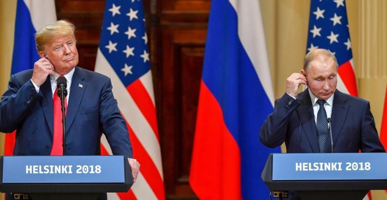 فلاديمير بوتين ودونالد ترامب - قمة هلسنكي