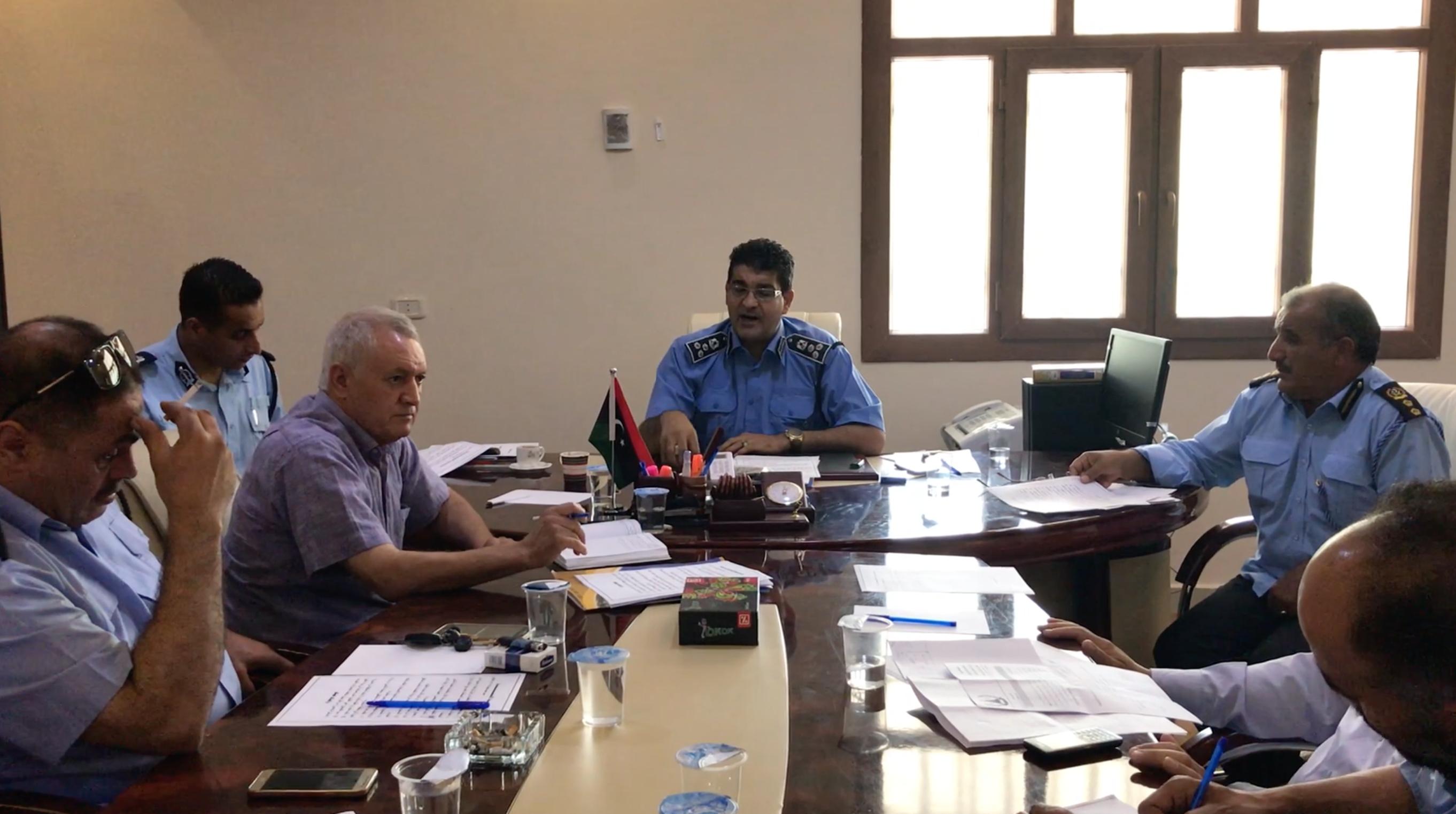 لجنة مكونة من ضباط بمديريات أمن غريان، والأصابعة، ومزدة، ونسمة، والشقيقة