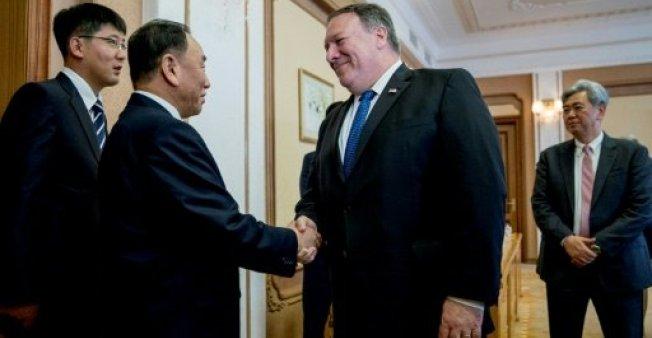 وزير الخارجية الأمريكي مع كيم يونغ شول