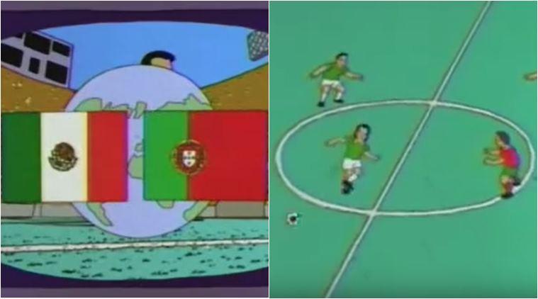 سيمبسون تنبأ بين البرتغال والمكسيك