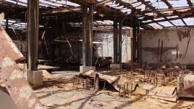 صورة مصنع سجاد بني وليد يتحدى الدمار