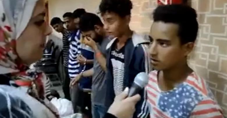 أطفال مُتهمين بتهريب بضائع في بور سعيد