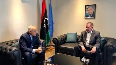 مبعوث الأمم المتحدة إلى ليبيا غسان سلامة وسفير روسيا لدى ليبيا إيفان مولوتكوف