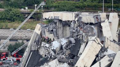 صورة عشرات القتلى بانهيار جسر في إيطاليا (فيديو)
