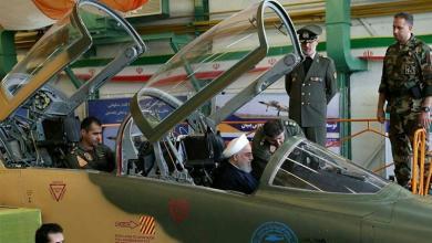 """الرئيس الإيراني حسن روحاني في المقاتلة الجديدة """"كوثر"""""""
