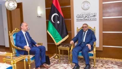 رئيس مصلحة الأحوال المدنية محمد بالتمر و رئيس المجلس الأعلى للدولة خالد المشري