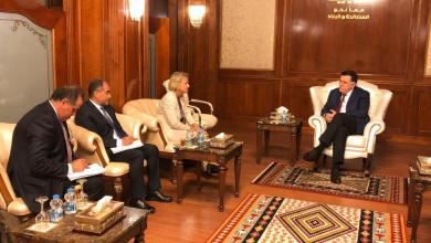 رئيس المجلس الرئاسي فائز السراج وسفيرة الاتحاد الأوروبي لدى ليبيا بيتينا موشايدت
