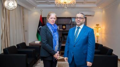 خالد المشري مع نائبة المبعوث الأممي إلى ليبيا ستيفاني ويليامز