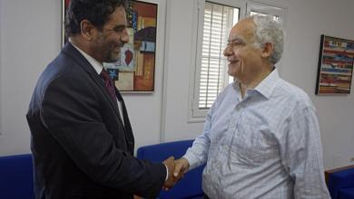 اجتماع المبعوث الأممي إلى ليبيا غسان سلامة وعضو مجلس النواب عبد السلام نصية