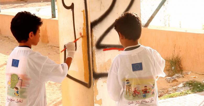 نشاطاً ترفيهياً لأطفال مدينة سرت من قبل منظمة المساعدات الإنسانية الدنمركية
