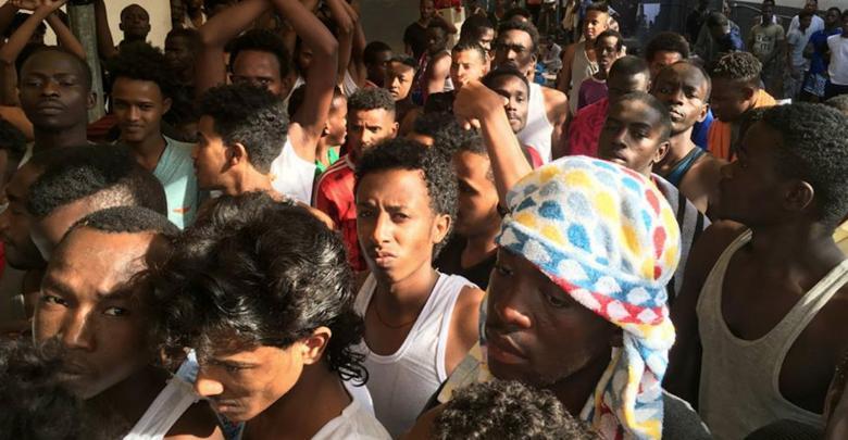 مركز احتجاز المهاجرين في عين زارة