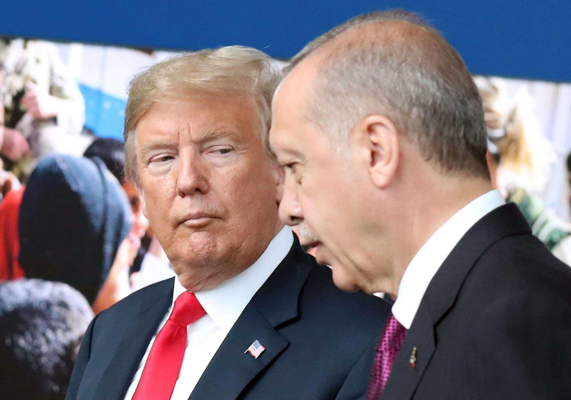 الرئيسين دونالد ترامب ورجب طيب أردوغان