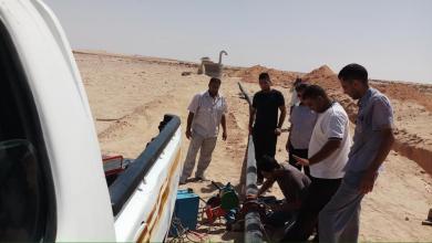 توصيل المياه لحي الشطوط في بلدة بشر