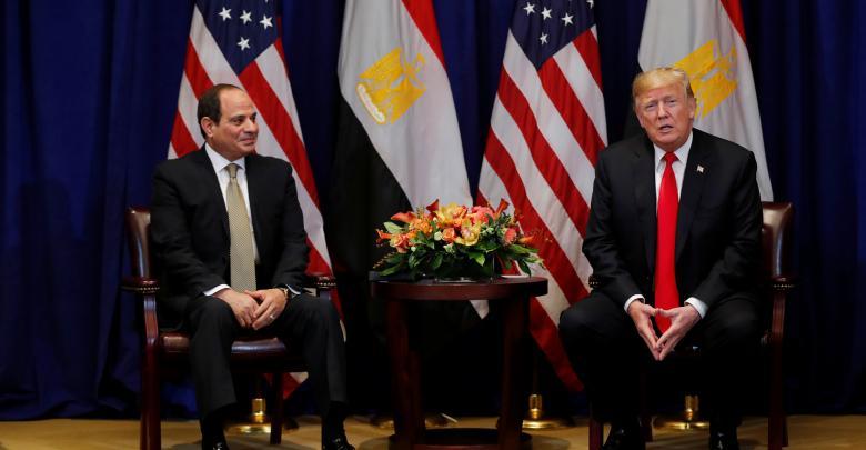 الرئيس المصري عبدالفتاح السيسي والرئيس الأميركي دونالد ترامب - أرشيفية