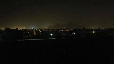 صورة هلع بين السكان قرب مستشفى الخضراء جراء سقوط قذائف