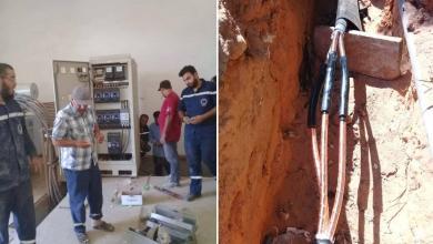 شركة الكهرباء تباشر إصلاح أضرار الاشتباكات