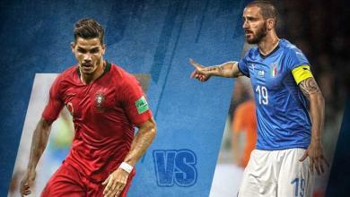 مباراة البرتغال وإيطاليا في دوري الأمم الأفريقية 2018
