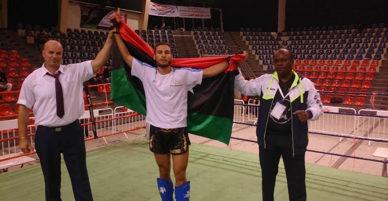 البطل الدولي محمد الطبال بمنتخب ناشئي الكيك البوكسينغ