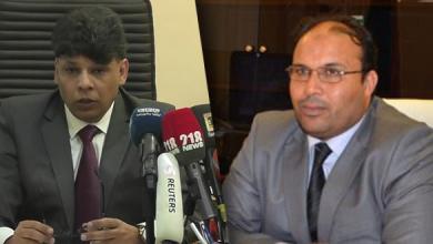 رئيس هيئة الرقابة الإدارية نصر المشاي ورئيس قسم التحقيقات بمكتب النائب العام الصديق الصور