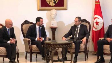 وزير الداخلية الإيطالية ماتيو سالفيني يلتقي نظيره التونسي هشام الفوراتي