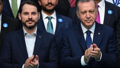 الرئيس التركي رجب طيب أردوغان وصهره وزير المالية البراءات البيرق