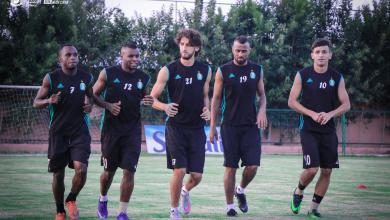 تدريبات فريق نادي الأهلي طرابلس