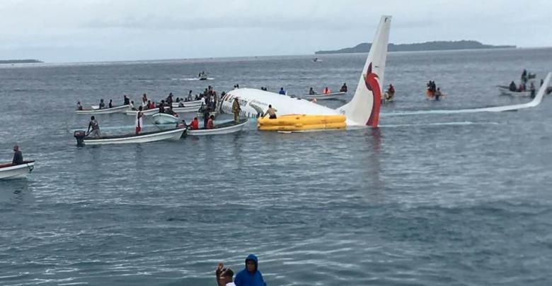 صورة لطائرة إير نيوجيني التي تحطمت