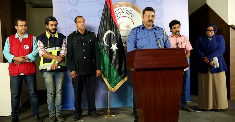 مؤتمر صحفي عقدته لجنة الطوارئ والأزمة المشكلة بموجب قرار المجلس الرئاسي