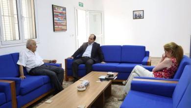 اجتماع مابين غسان سلامة ستيفاني ويليامز أحمد معيتيق في مدينة الزاوية