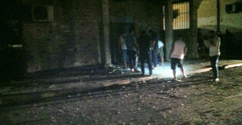 سقوط قذيفة عشوائية في أبو سليم