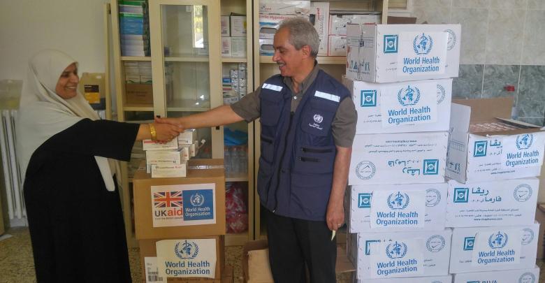 منظمة الصحة العالمية بالتعاون مع وزارة الصحة التابعة لحكومة الوفاق