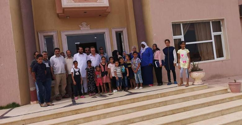 زيارة بلدي تاجوراء للأسر النازحة