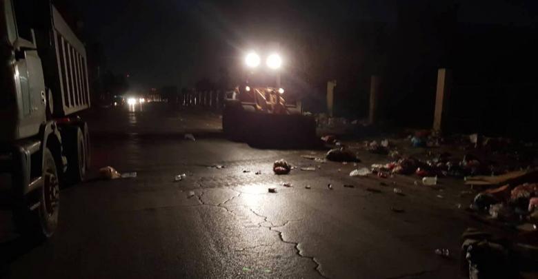 عمليات إزالة القمامة من طرابلس