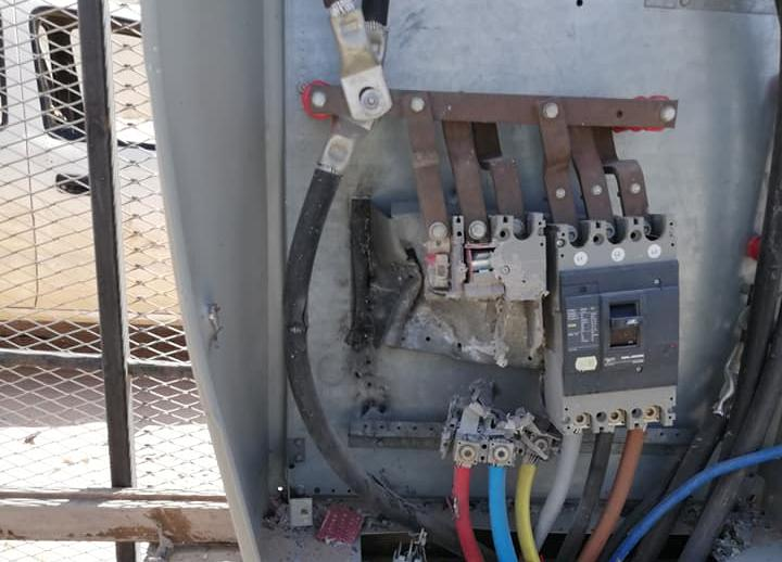 أضرار شبكة الكهرباء - عين زارة، طرابلس