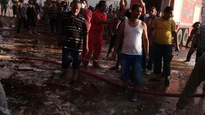 وحدة إطفاء المدينة التابعة لهيئة السلامة الوطنية بنغازي